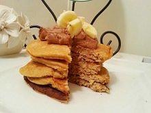 Przepis na pyszne fit pancakes !! Zdrowo smacznie i dietetycznie :D 2 łyżki s...