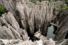 Kamienny Las, Chiny.  Kamienne formacje wyglądem przypominają zwierzęta, grzyby, drzewa oraz inne rośliny. Niektóre z nich tworzą naturalne mosty i łuki. Część udostępniona do z...