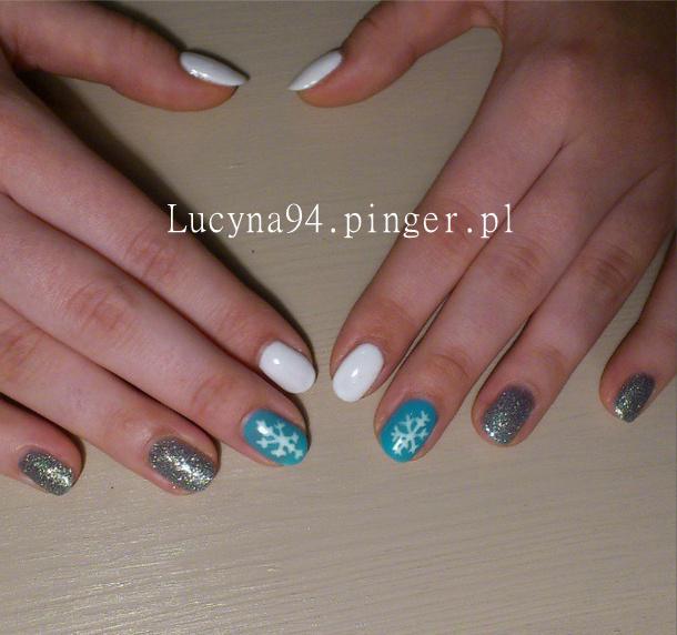 świateczne biały niebieski  Estetiq , srebrny Emnail