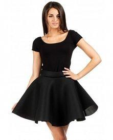 Rozkloszowana spódnica z koła a la balerina - czarna.