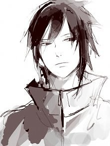 Sasuke ♥    anime-black-and...