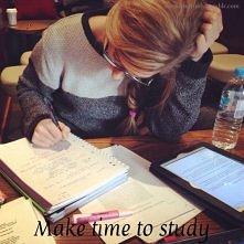 Make time to study :)