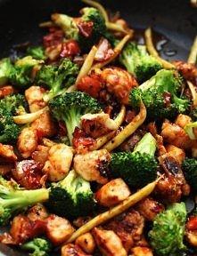 grilowany kurczak z warzywami