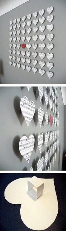 Pomysłowa ozdoba ściany :)
