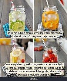 jak zrobić owocową wode