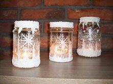Zimowe świeczniki na zimowe wieczory