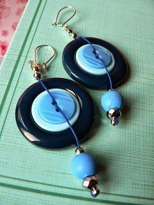 guziki, pomysły, inspiracje, kolczyki, guzikowe kolczyki, kolczyki z guzików, biżuteria z guzików