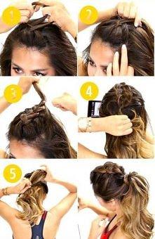 5 kroków i fryzura zrobiona.