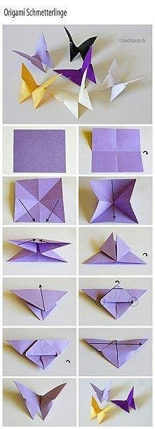Motylki origami :)