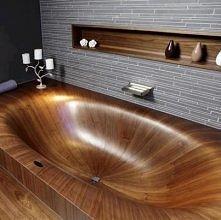 Dziś mamy coś nietypowego - łazienka z parkietu :) Pewnie będzie ciężko dbać o drewno w takiej łazience.