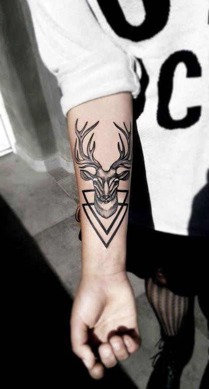 Tatuaż Jeleń Na Inspiracje Czyli Wszystko Co Mi Się Podoba