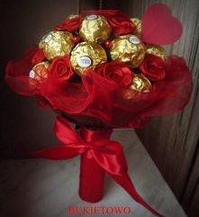 Walentynkowy słodki bukiet od Bukietowo :)
