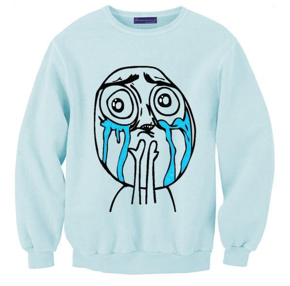 Fajna Młodzieżowa Bluza Z Zabawnym Nadrukiem Ludzik Mom Please Na Bluzy Z Nadrukiem Zszywka Pl