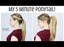 My 5 Minute Ponytail Routine