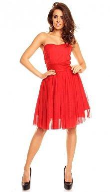 koktajlowa sukienka tiulowa