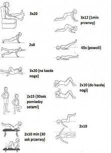 Ćwiczenia :) Do końca czerwca myślę że będą efekty. 1 serduszko to 1 dzień bez słodyczy pomóżcie ! :)