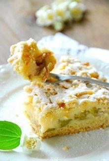 Kruche ciasto z rabarbarem i budyniem  Składniki:  3 szkl. mąki  200 g masła ...