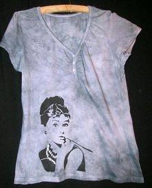 koszulka ręcznie malowana
