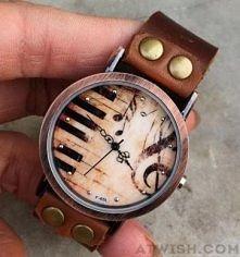 Handmade, Piano ,Retro, Leather, Watch