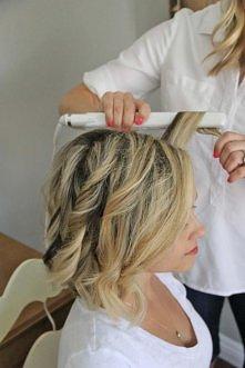 Jak zrobić fale na krótkich włosach --->>> instrukcja