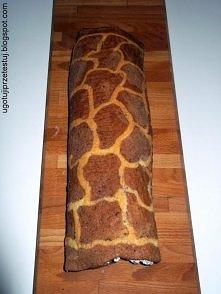 Rolada Żyrafa ze śmietaną straciatella i bananem <3