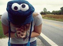 cudowna czapka cookie monst...