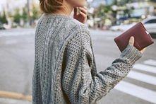 gruby sweter. must have na ...