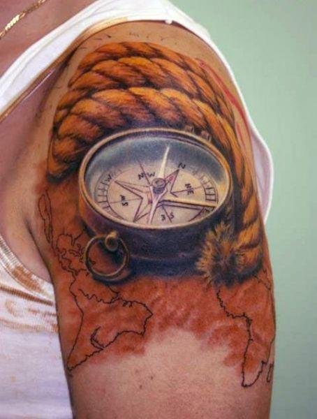 Tatuaż Kompas 3d Na Tatuaże Zszywkapl