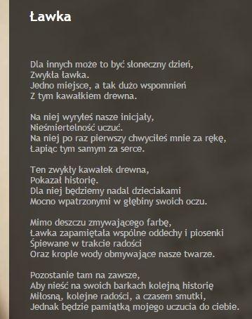 Wiersz Z Mojego Bloga Na Wiersze Zszywkapl
