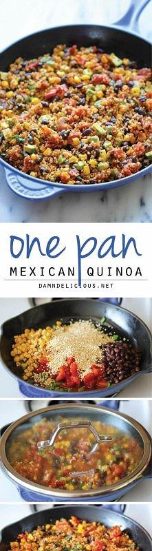 Weganska Meksykanska Quinoa bez glutenu 1 Avokado,1 puszka czarnej fasolki, 2...