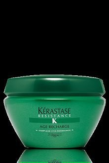 Świetna maska z firmy Kerastase z linii Age Recharge do włosów osłabiony działaniem czasu. Cudownie ujędrnia włosy oraz działa kojąco na skórę głowy :-)