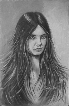 Obraz akrylowy, portret Anny Dymnej