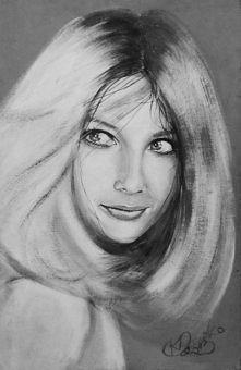 Obraz akrylowy, portret Poli Raksy
