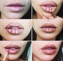 powiekszenie ust za pomocą makijażu