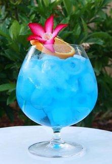 Blue Ocean:  Składniki:  * Wódka (40 ml) * Cura Cao (20 ml) * Sok ananasowy (40 ml) * Sok grejfrutowy (40 ml) * Lód (kostki).  Przygotowanie:  Najprościej – całość składników na...