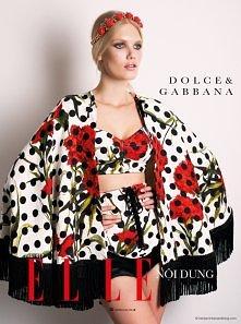 Nowinki mody 2015  Yulia Terenti in Dolce & Gabbana by Benjamin Kanarek