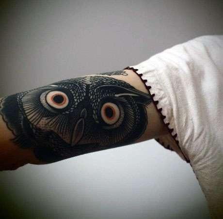Tatuaż Sowy Na Przedramieniu Na Tatuaże Zszywkapl
