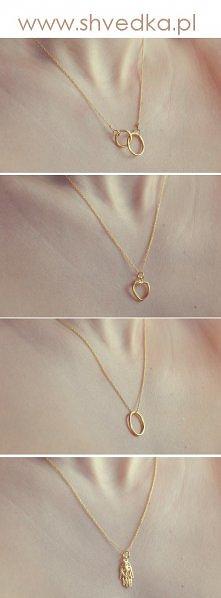 Naszyjniki Shvedka Jewelry. Srebro pozłacane dwoma warstawami 24 karatowego złota.