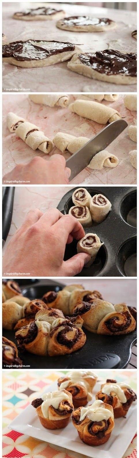 Nutella cupcakes Rolls