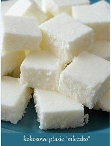 """Lekkie i kokosowe ptasie """"mleczko"""" w wersji jogurtowej  Składniki: ..."""