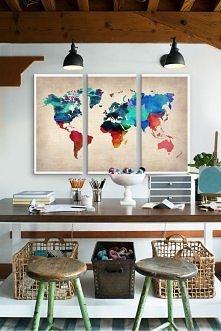 Mapa dekoracją w Twoim domu - zobacz wszystkie propozycje