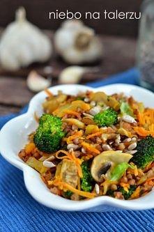 Kasza gryczana z warzywami-...