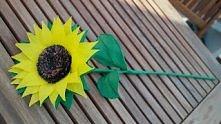 słonecznik z bibuły-zapraszam na moją stronę,gdzie znajdziecie dużo więcej pa...