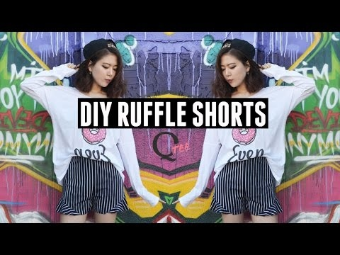 qtee diy ruffle high waist shorts na diy best ideas