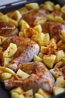 Kurczak pieczony z ziemniakami
