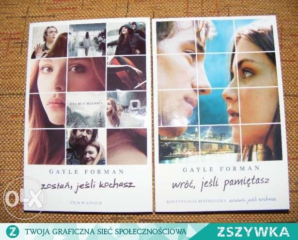 Oglądałam film Zostań jeśli kochasz i zamiaruje przeczytać książkę :p Co o nich sądzicie ??