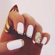 piękne biało-złote prostoką...