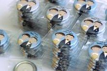 Magnesy ślubne z ilustrowaną Młodą Parą :)  Dostępne w sklepie online Madame Allure.