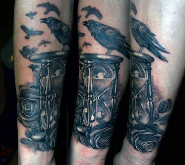 Tatuaż Kruka Na Przedramieniu Na Tatuaże Zszywkapl