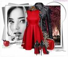 Stylizacja walentynkowa ekskluzywna klasyczna kurtka damska ramoneska zameczki napy model #77 w sklepie FASHIONAVENUE.PL